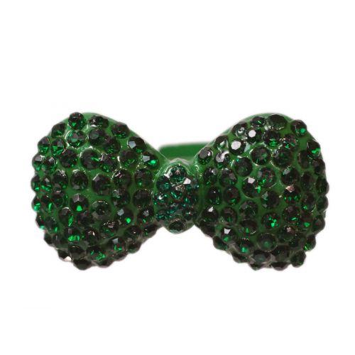 Bague métal noeud de papillon XL, BA18 Vert Vert pin - 3403-11984