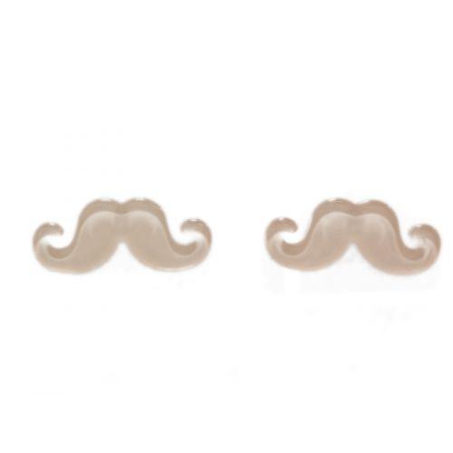Boucles d'oreilles moustache en acrylique, 2094 saumon