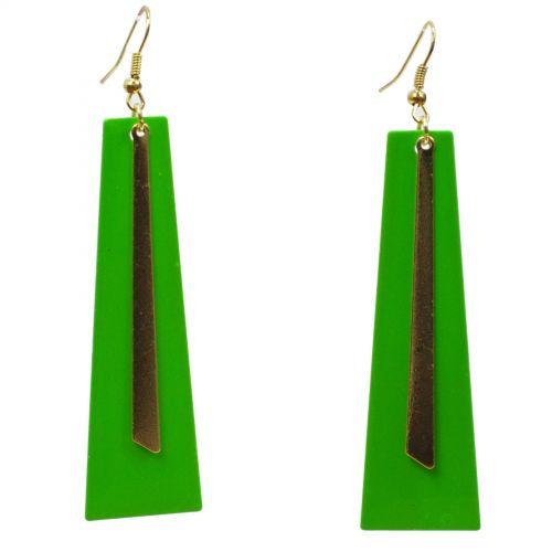 Boucles d'oreilles lamelles coloré, 2062 vert fluo