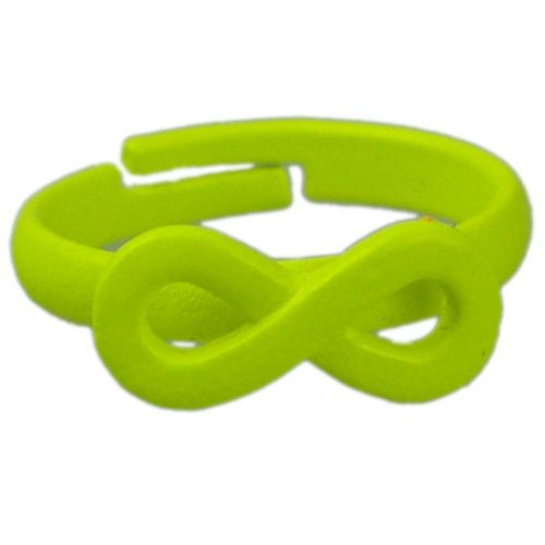 Infinite symbole fashion ring - Green neon