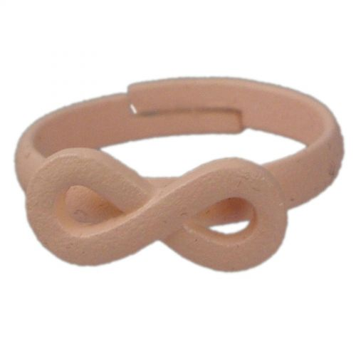 Infinite symbole fashion ring - Salmon