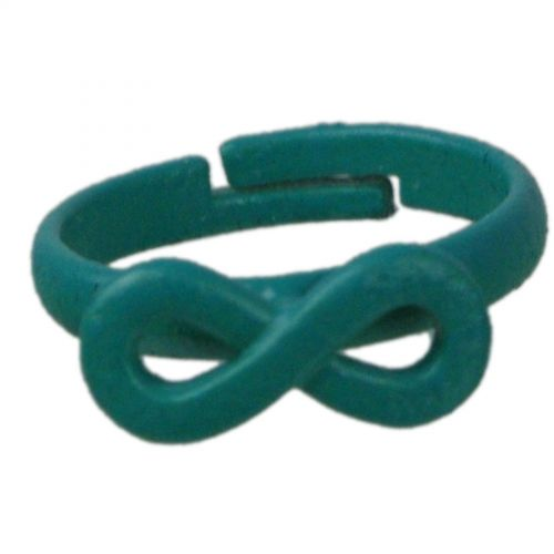 Bague métal symbole infini, 4774 Vert