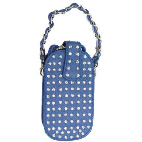 Sacs pour smartphone strass XL, 5799 Bleu Cyan