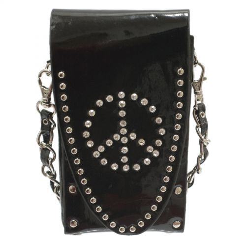 Sacs pour smartphone strass, Peace and Love, 6451 Noir