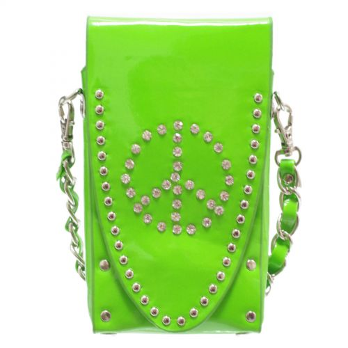 Sacs pour smartphone strass, Peace and Love, 6451 Vert