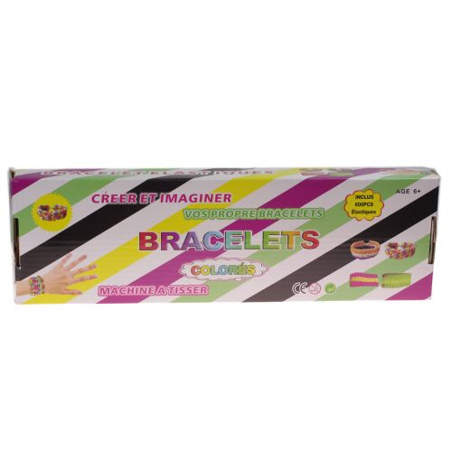 Anniversaire Kermesse - 12 x Kit de création de bracelet 600 élastique compatible Rainbow loom