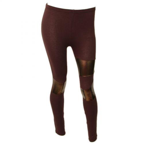 Legging cotton, 9329 Chocolat-Doré