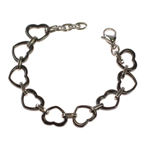 Bracelet céramique coeur 12mm 9405