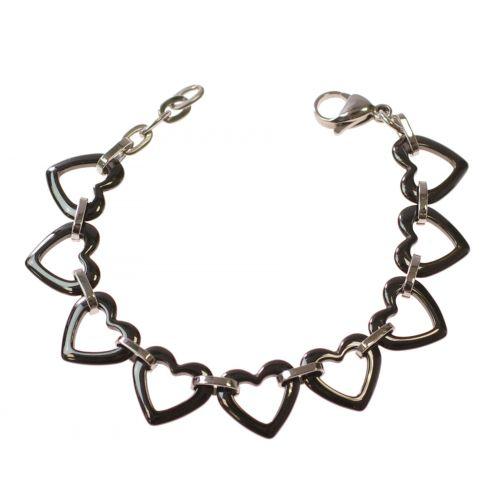 Bracelet céramique Coeur 14mm 9410