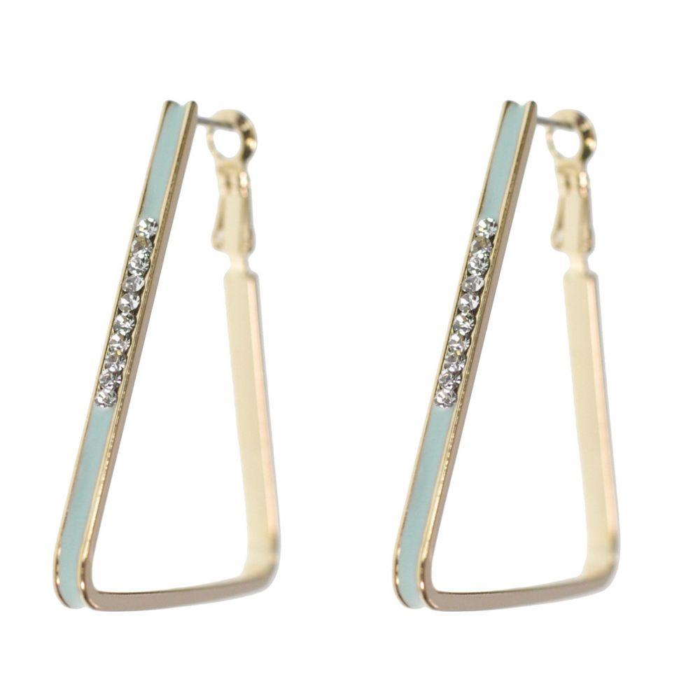 stati Uniti stile distintivo Guantity limitata grossista Orecchini triangolo d'oro strass orecchini zirconia 9459