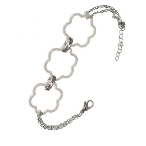 Bracelet céramique trois trèfles JULIA