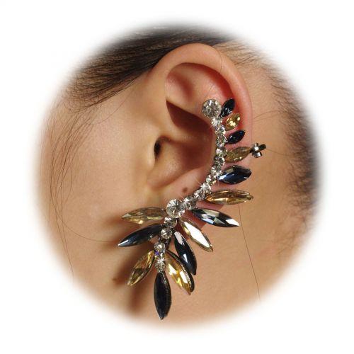 left ear rhinestone bijou 9570