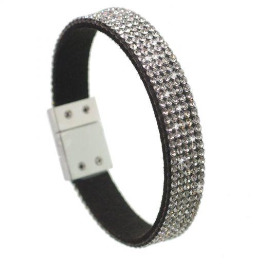 Bracelet Strass cristal 5 rangs MAELIS Noir (Blanc) - 7001-28029