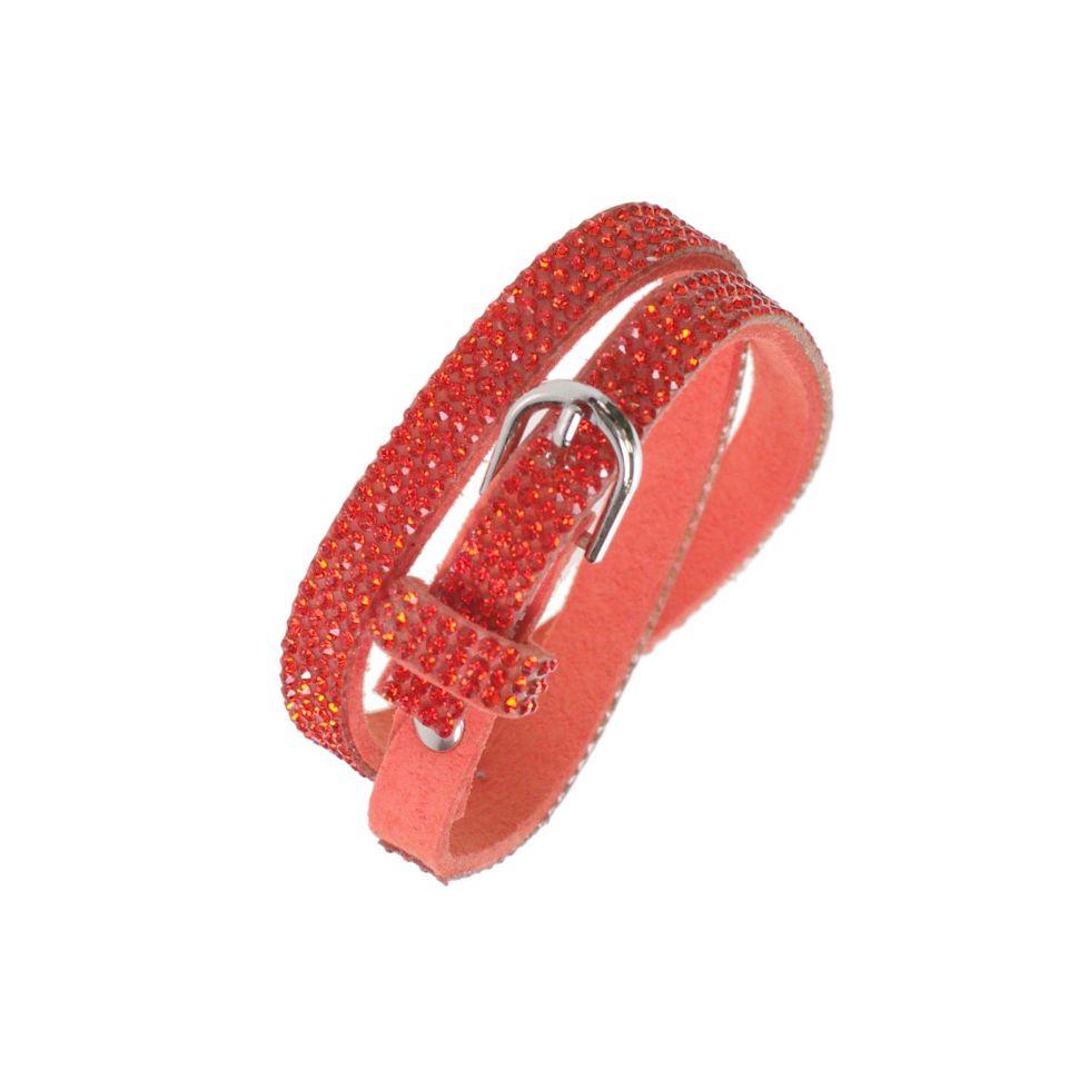 Bracelet strass Wrap Cosima 7928 Rouge-feu - 9605-28237