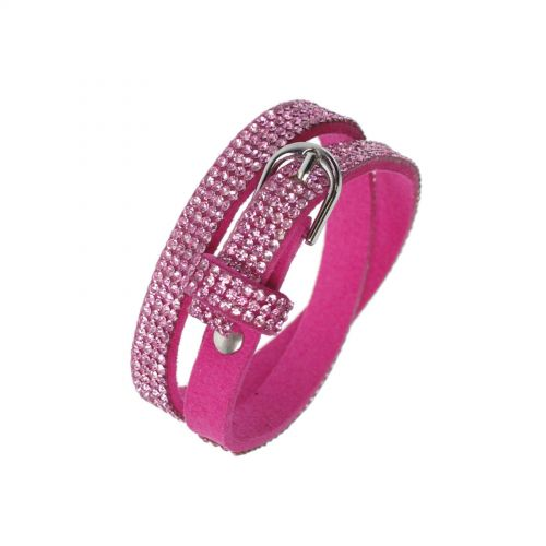 Rhinestones wrap bracelet Cosima