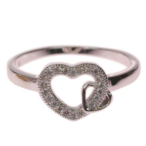 Copper Ring Heart Golden with Gold NERIMENE