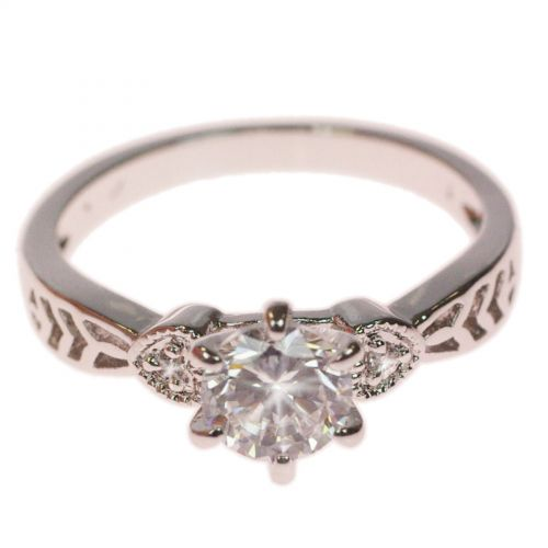 Copper Ring Rhinestone zirconium crystal golden with gold, LYNCIA