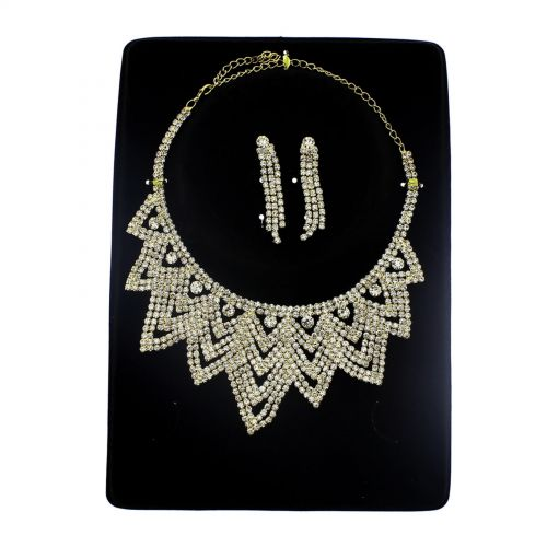 Parrure Necklace and Earrings Kaled Golden - 9744-29294