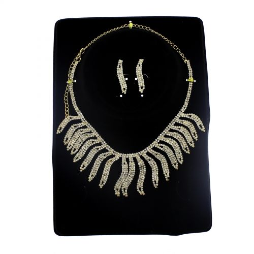 Parrure Necklace and Earrings Aalyah Golden - 9747-29313