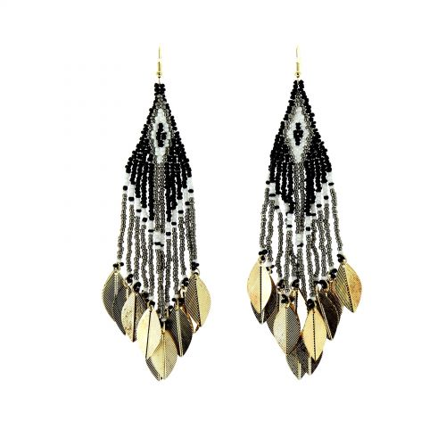 Boucles d'oreilles pendants à perles Roukia