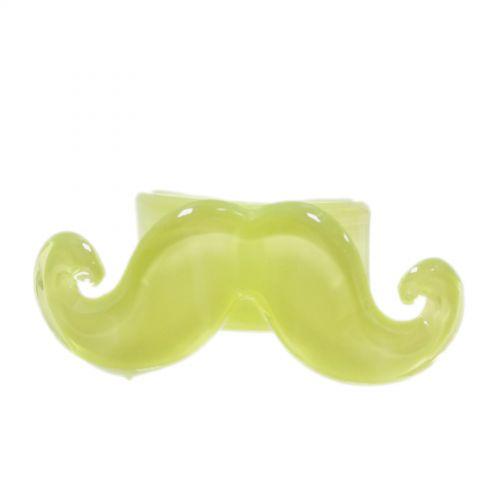 Bague Moustache Jaune Fluo - 3293-29484