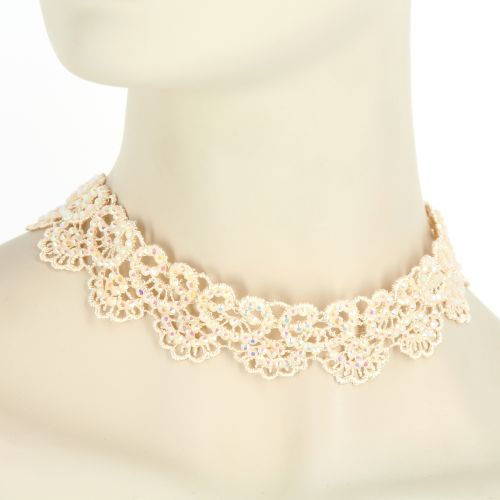 Collier fantaisie dentelles CAREL