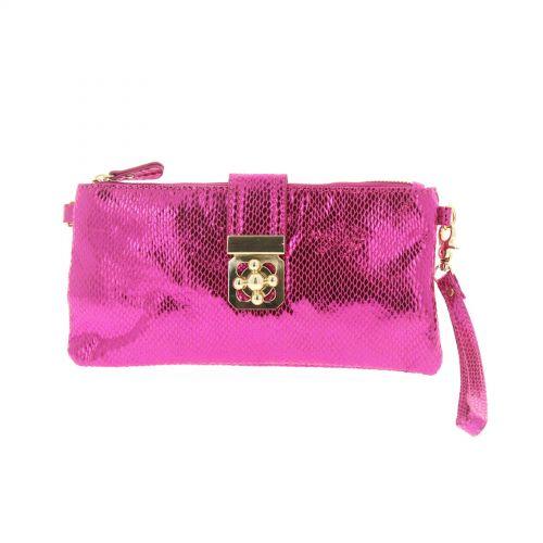 Glänzende Clutch-Bag Luna
