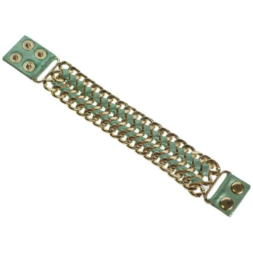 Bracelet similicuir chaines ALARA