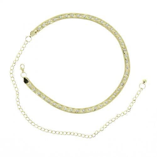 Damen Gürtel Kettengürtel, Gürtelkette mit Strass verstellbar, LILIAN
