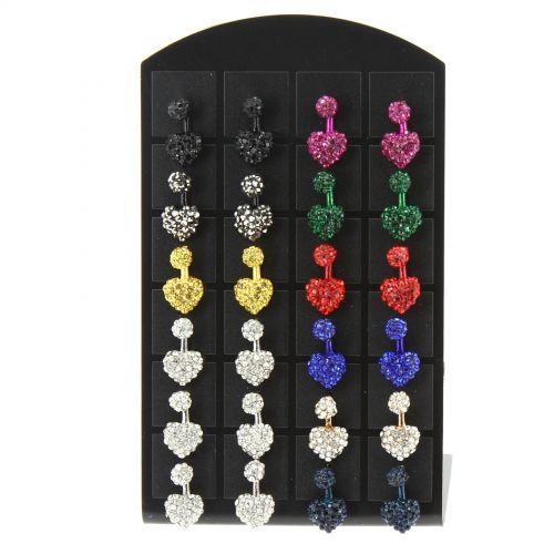 12 x paires de boucle d'oreilles moustaches, 2045 Mixed colors - 7518-30636