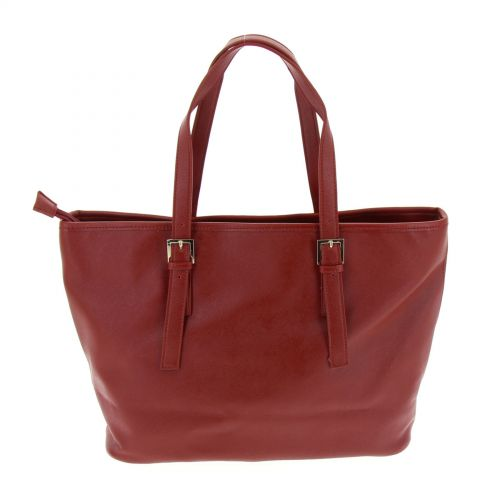 Sac cabas synthé Aline Rouge - 9851-31124