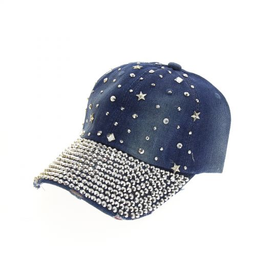 Casquette denim star et strass Dele Bleu denim - 9884-31490