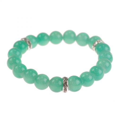 Bracelet extensible à perles de verre MARTA