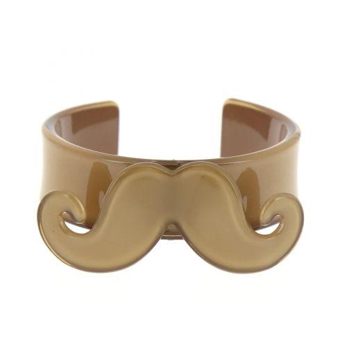 Bracelet moustache en acrylique 2095 Taupe - 3311-32267