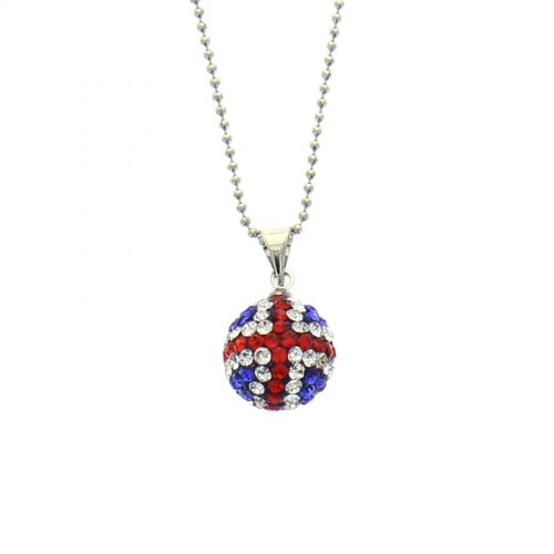 Collier disco ball anglais à strass Argenté - 9558-32386