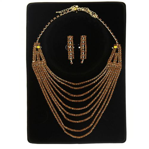 Parrure Necklace and Earrings Tonie Brown - 9938-32452