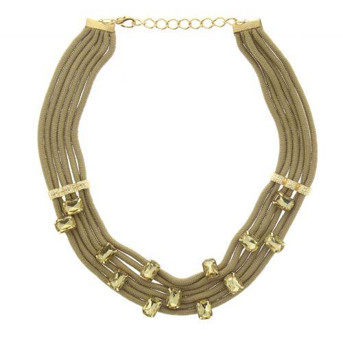 collier cordons strass Chahrazad Beige - 5172-32519