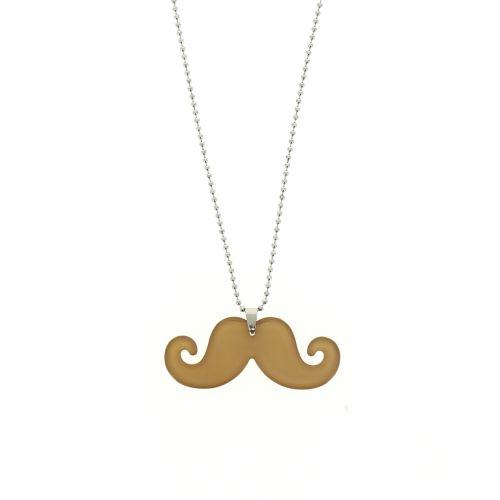 Sautoir acrylique moustache