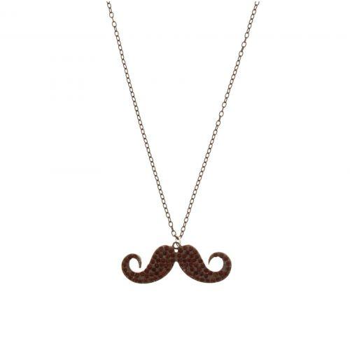 Collier chaines, moustache A05-41