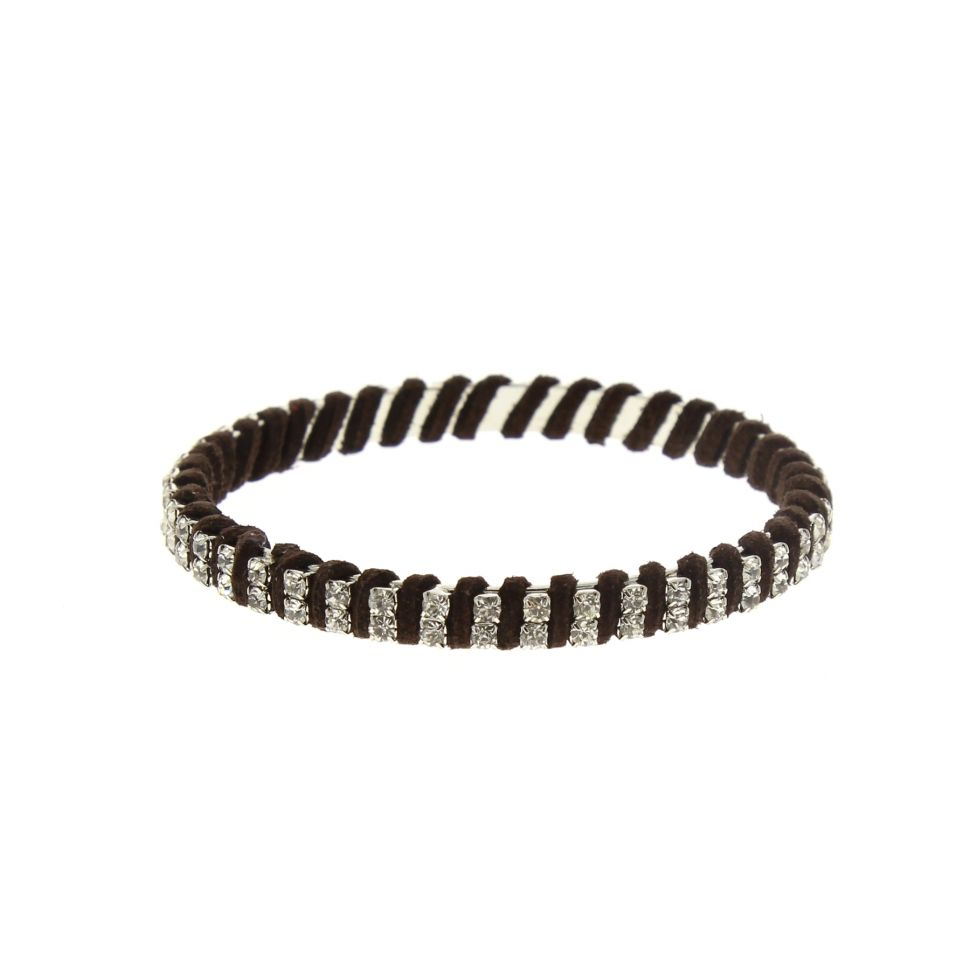 Bracelet bangle à strass Marron - 2215-32964