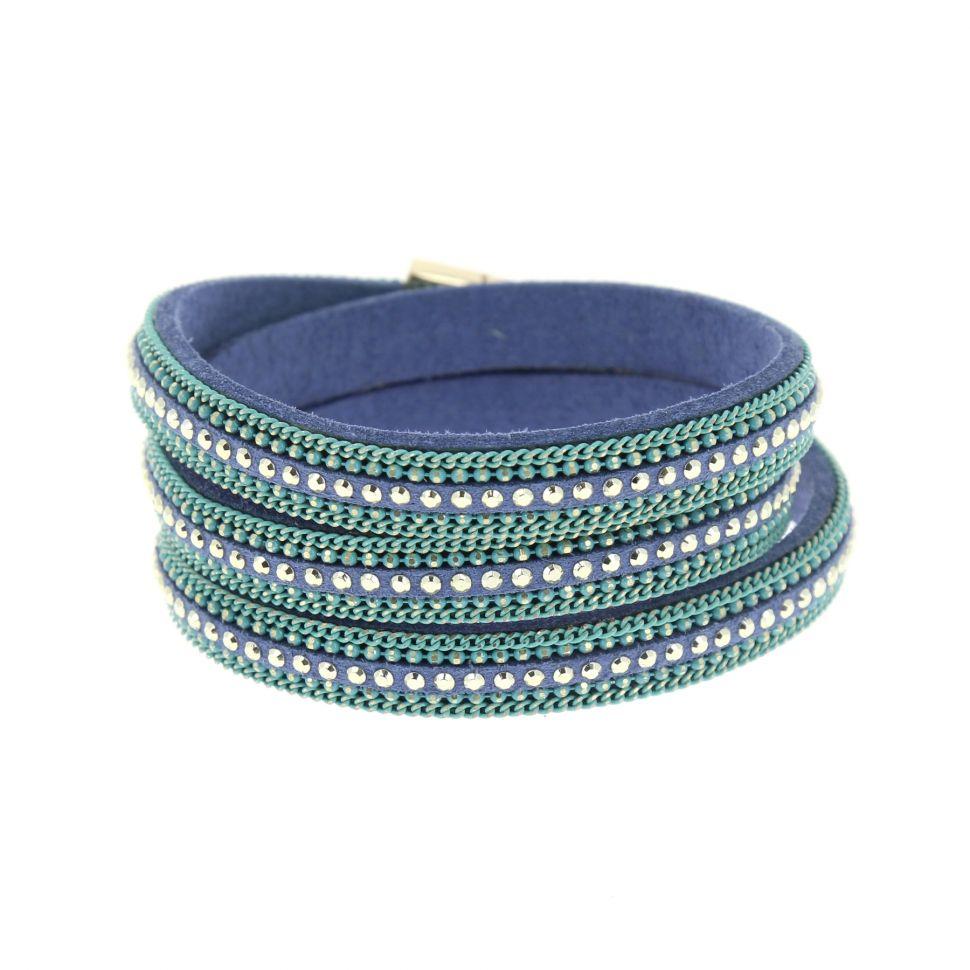 Bracelet wrap chaines AMAPOLA Bleu - 9956-32996