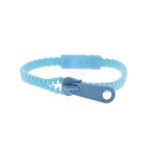 Bracelet fantaisie en ZIP Bleu - 4828-33385