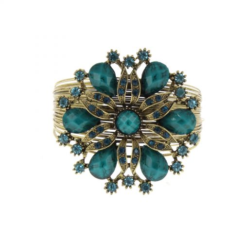 Metall-Manschette Armband Blume Jessalyn