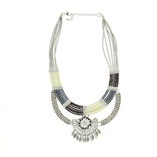 Collier perles bronze ASMINA Noir - 10046-34393