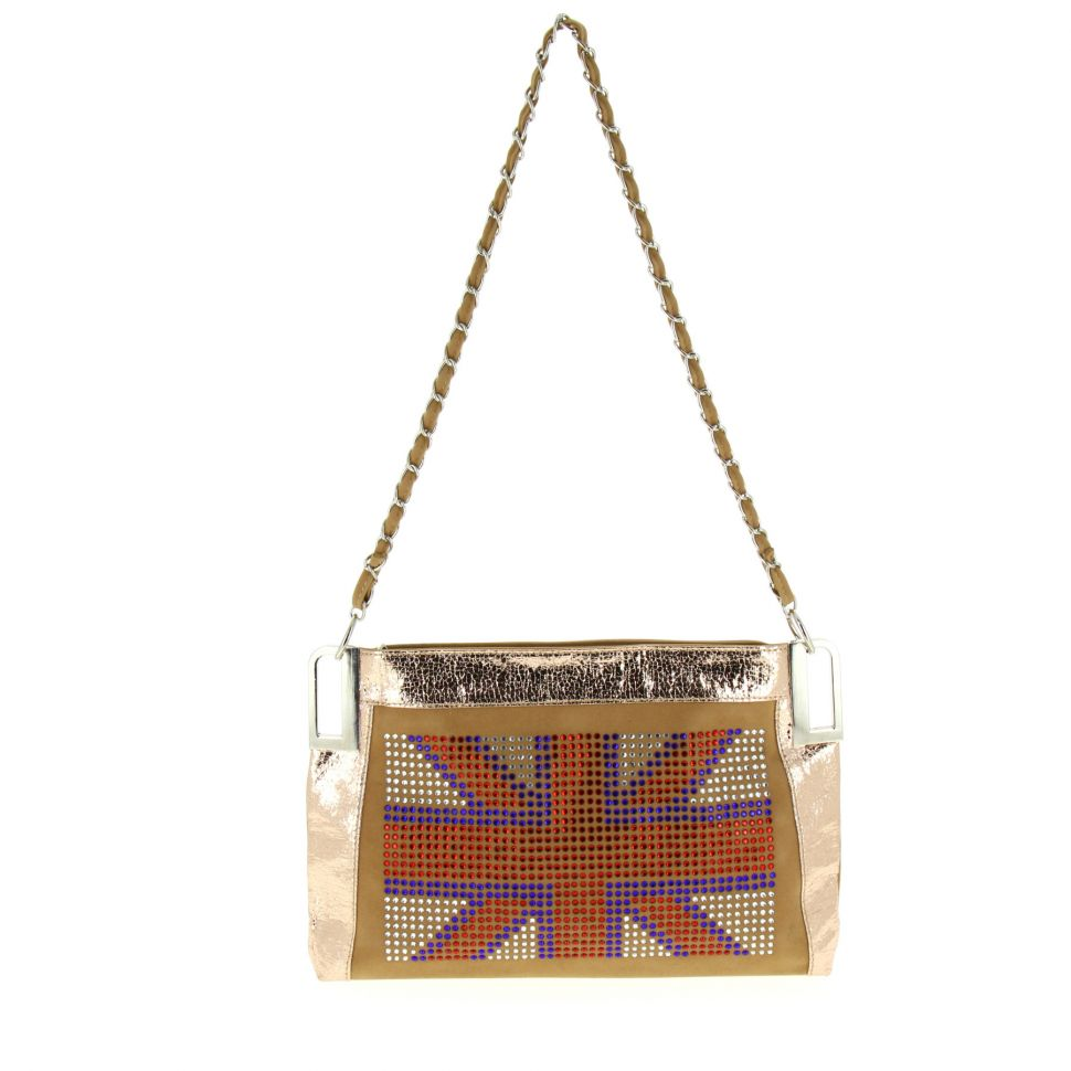 Sac pochette english Flag ANAIS Beige - 10053-34451
