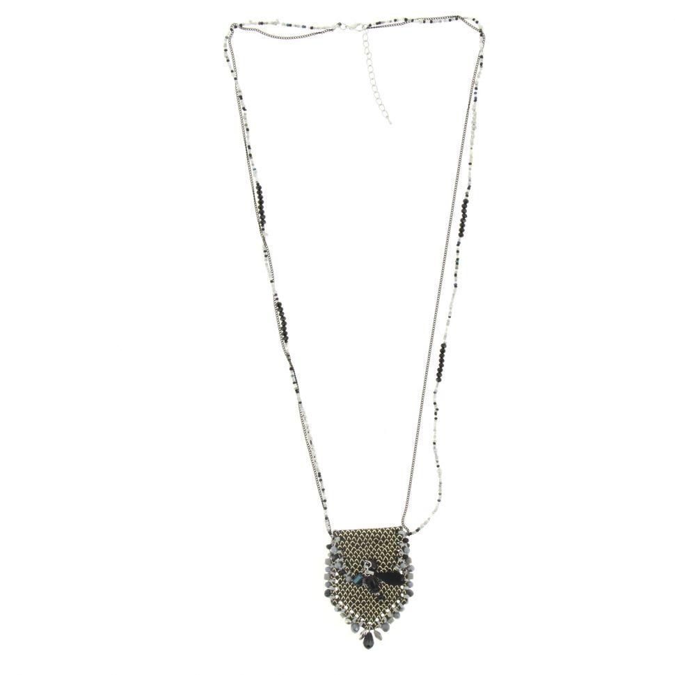 Sautoir sac et perles LAURE-SOPHIE Noir - 10101-34927