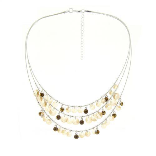 Strass Halskette Metallschnüre LEINA
