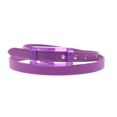 Ceinture silicone 2 cm adjustable Violet - 4062-35945