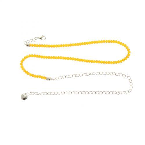 Ceinture chaines strass cristal MELINE Orange - 9508-36055