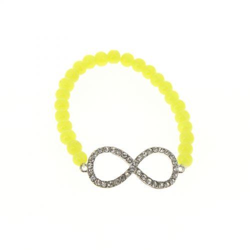 Bracelet à perles main de Fatima IVANNA Jaune - 3991-36227